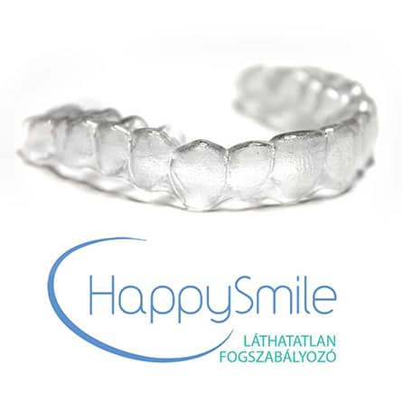láthatatlan fogszabályozó fogszabályozás HappySmile